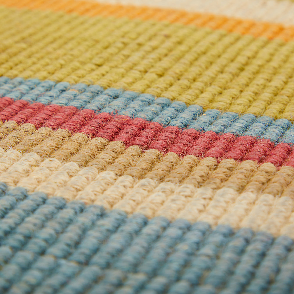 Multi-Color Braided Striped Rug