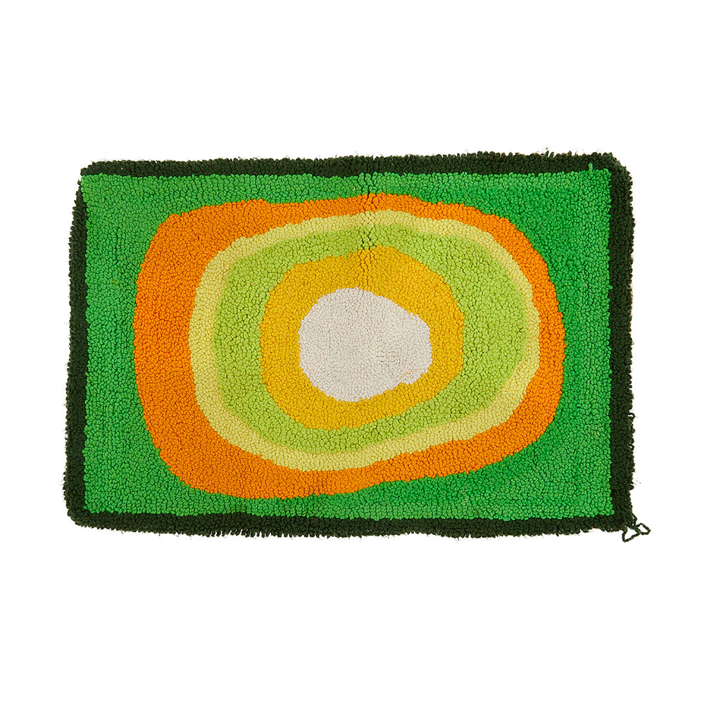 Bright Green Shag Doormat Rug