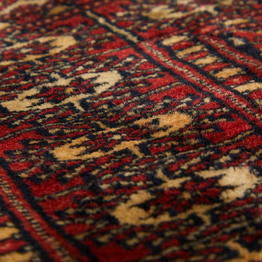 Deep Red Persian Doormat Rug