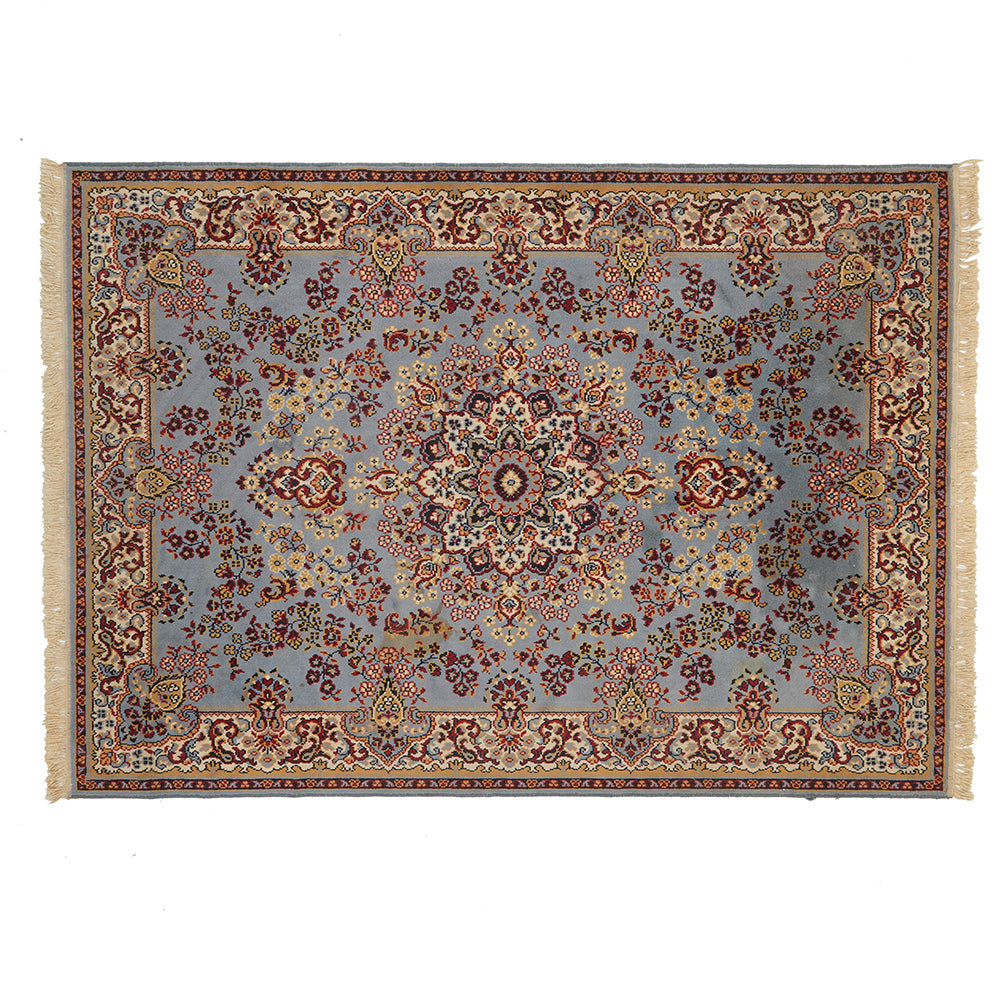 Light Blue and Tan Persian 5x8 Rug