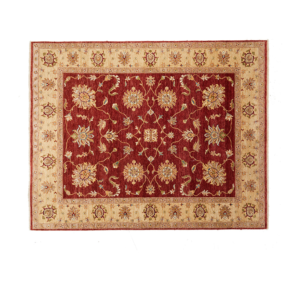 Gold and Tan Decorative Rug