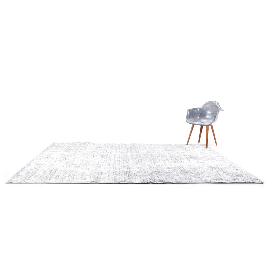 Grey Light Wash Contemporary Rug