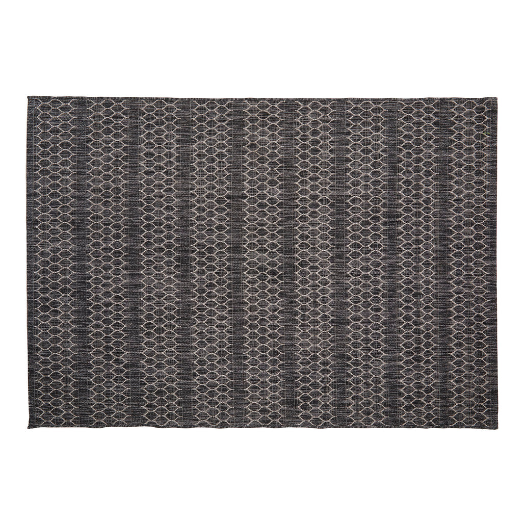 Chainlink Pattern Woven Rug