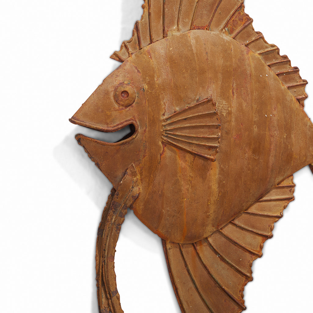 Wood Fish Wall Sculpture