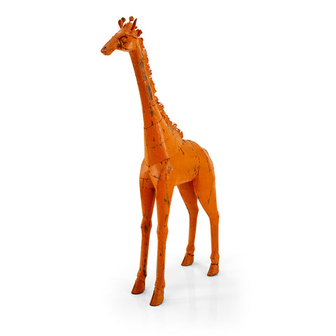 Orange Giraffe Floor Scultpture