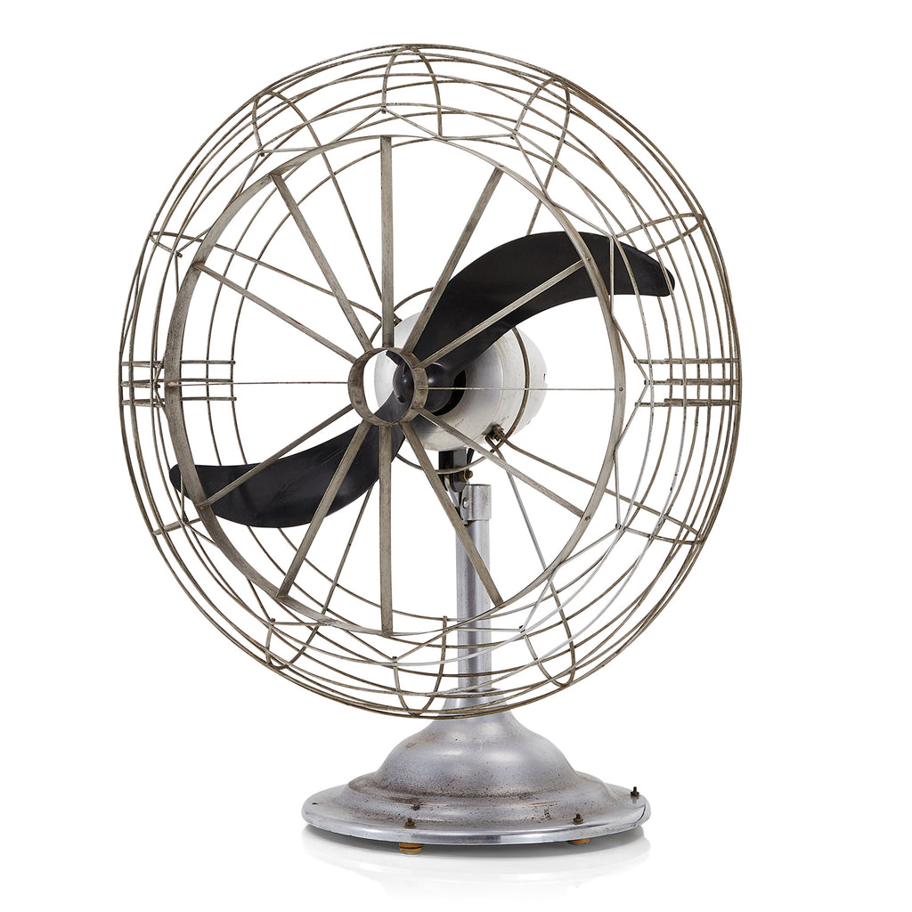 Vintage Chrome Two-Bladed Table Fan