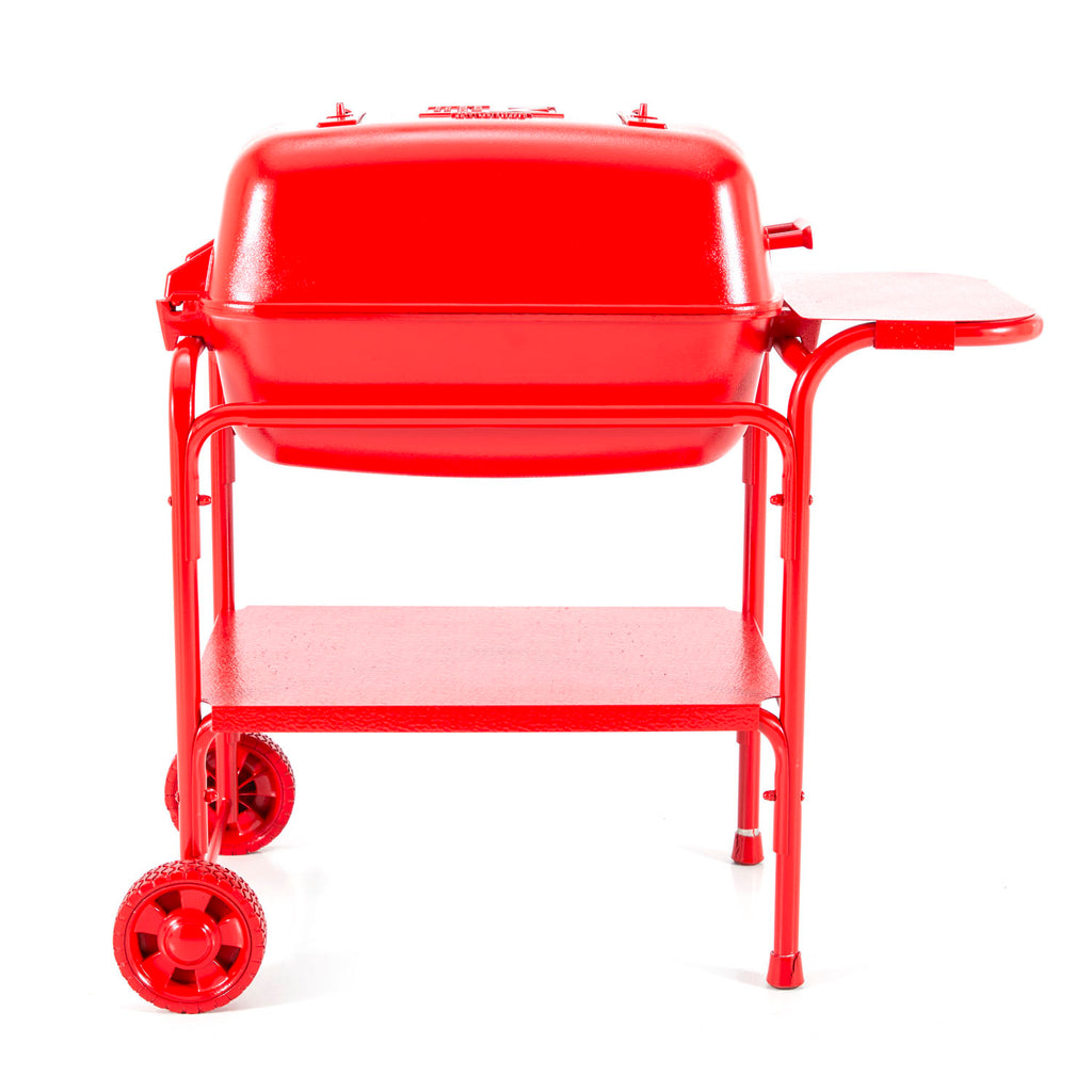 Solid Red Painted Cart Grill