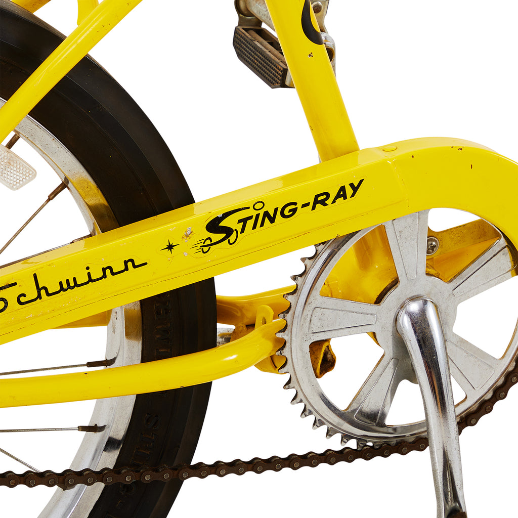 Yellow Schwinn Sting Ray Bike