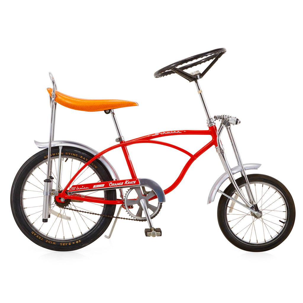 Orange Schwinn Sting Ray Bike