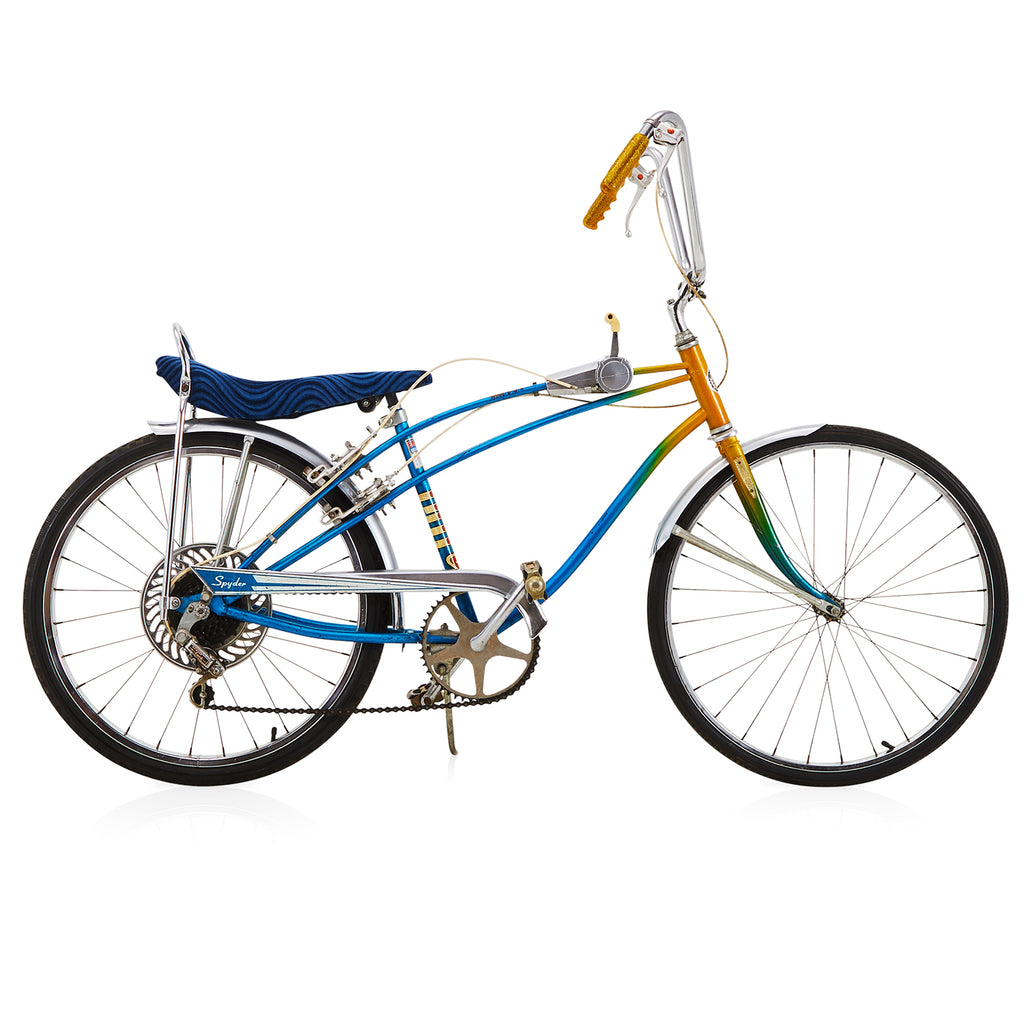 "Blue & Yellow Gradient Sears ""Spyder 5"" Speed Bike"