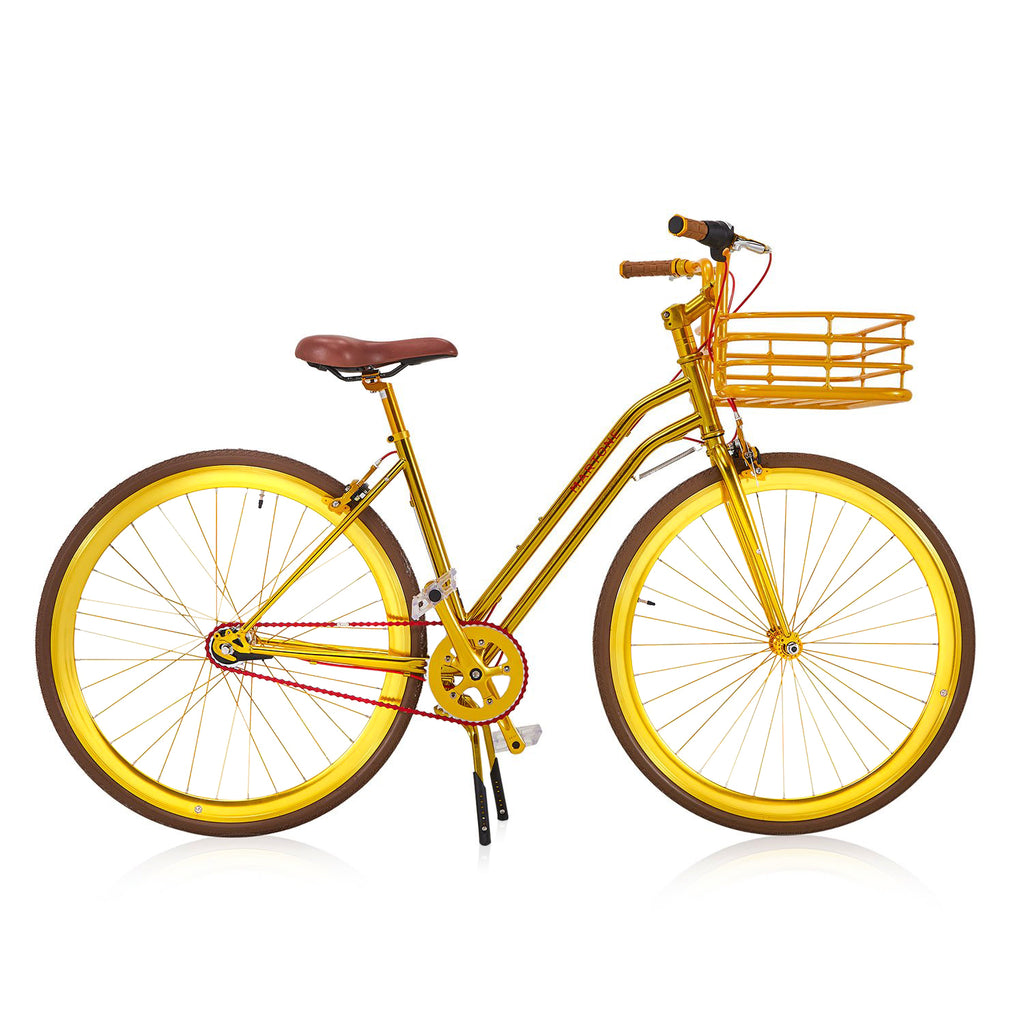 Gold Martone Bicycle With Basket