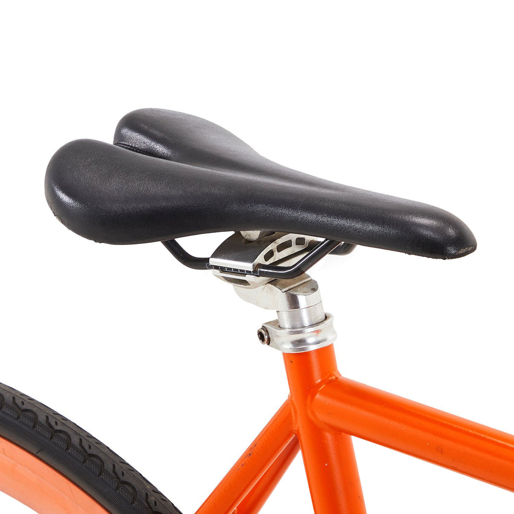 Orange Fixed Gear Road Bicycle