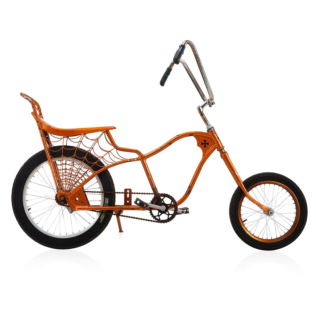 Orange Spiderweb Bike