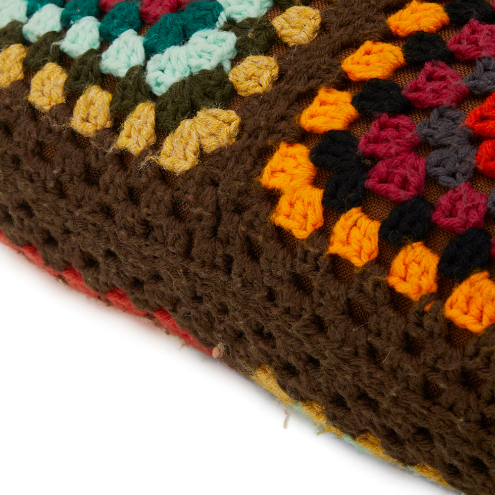 Multicolor Afghan Squares Pillow