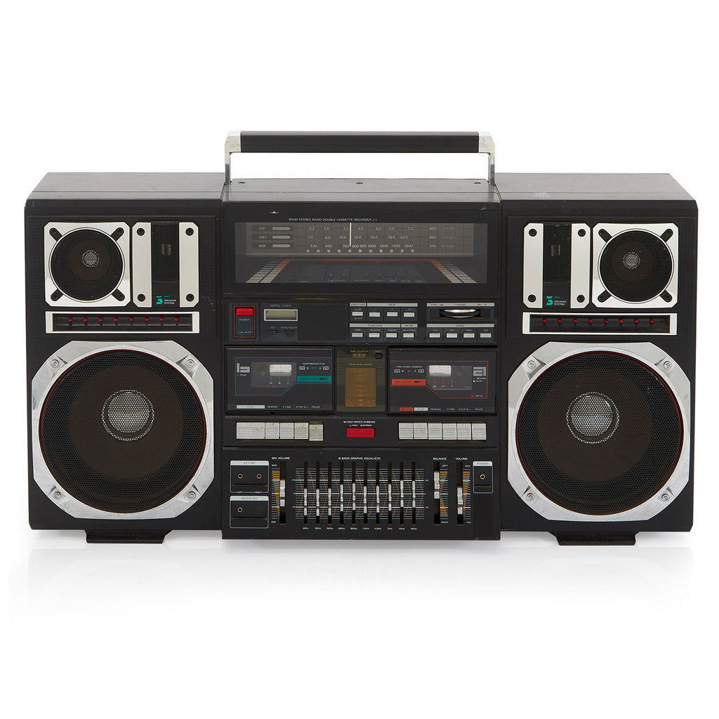 Huge Black Tecsonic Boombox