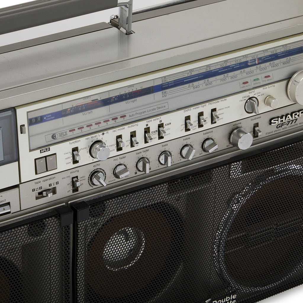 Huge Sharp Double Cassette Boombox