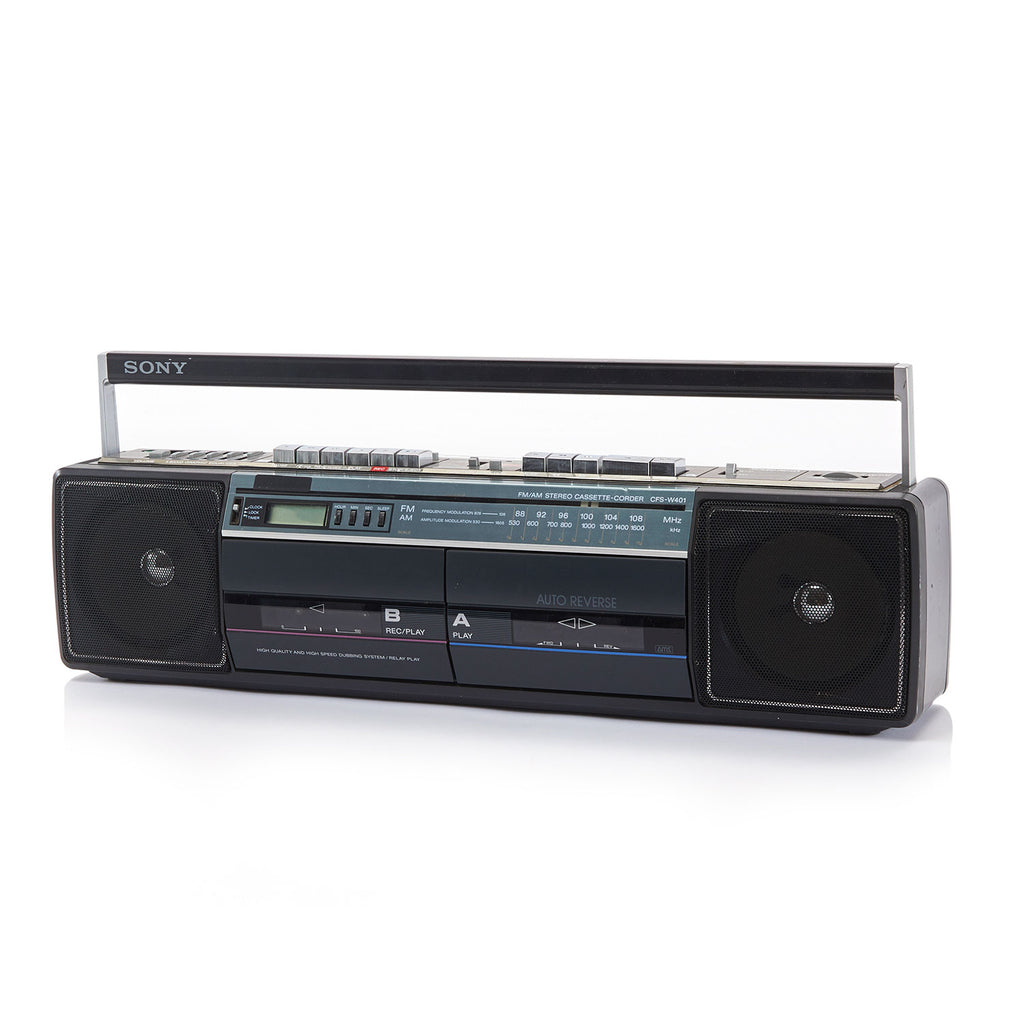 Black Sony Double Cassette Player Boombox