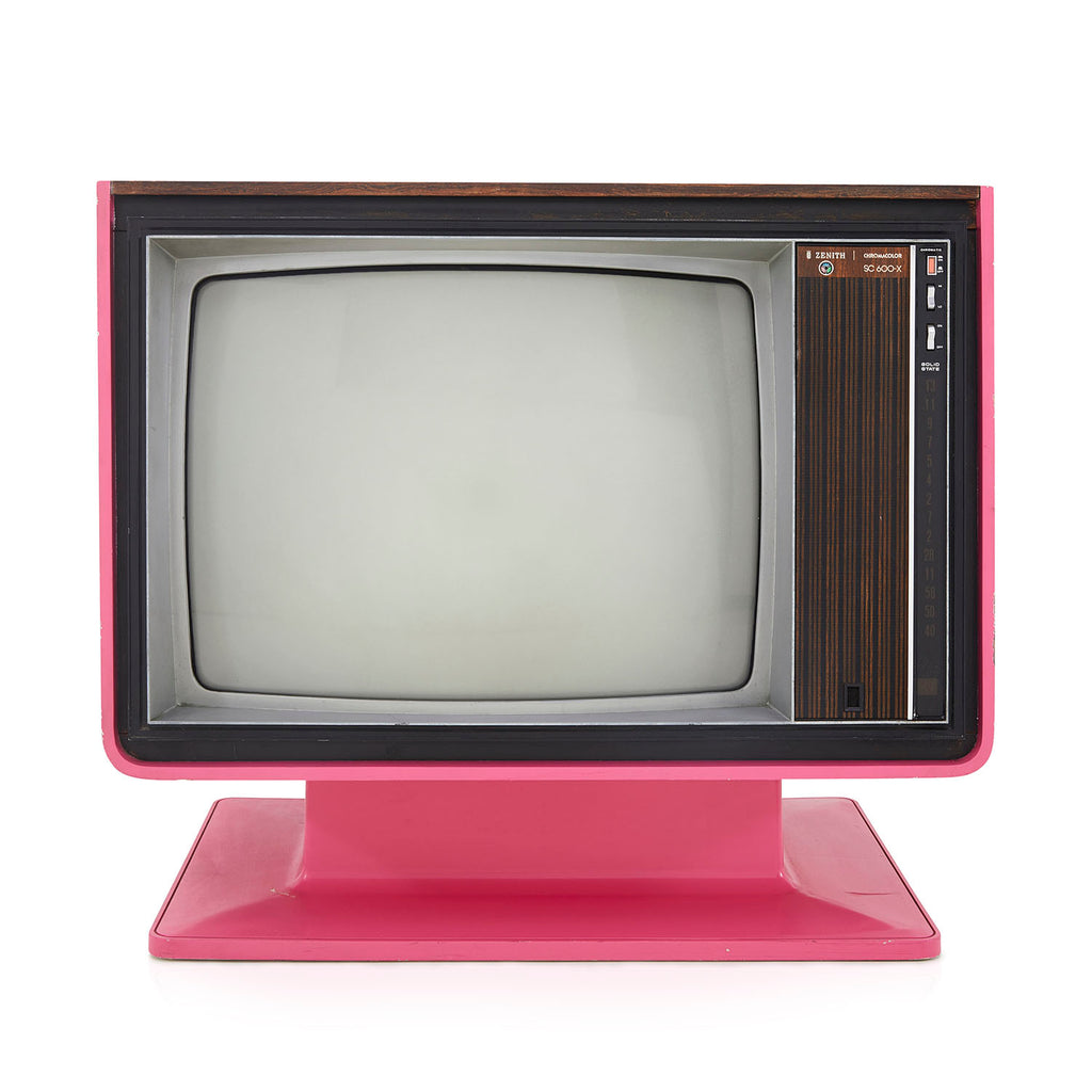 70s Pink Zenith Television