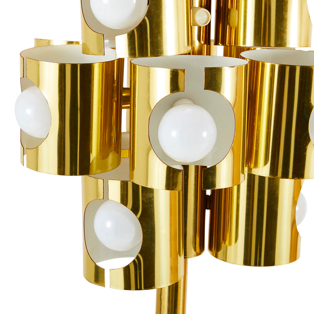 Brass Mini Cylinders Floor Lamp