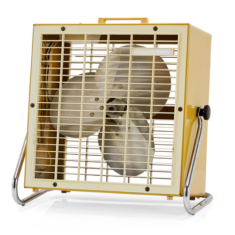 Beige Box Table Fan