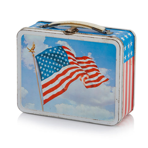 American Flag Tin Lunch Box