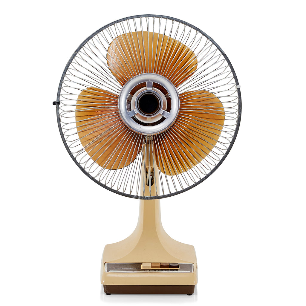 Beige Vintage Tabletop Fan