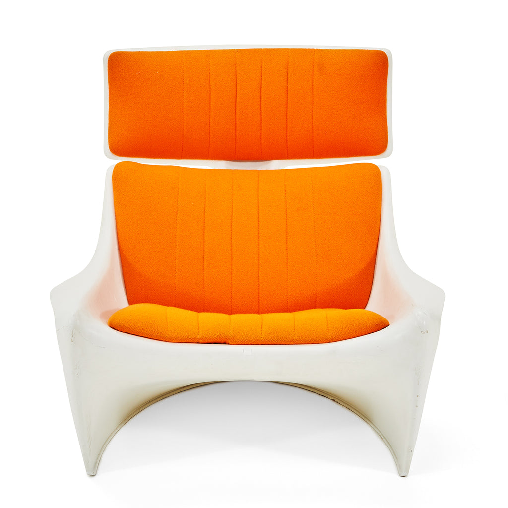 White with Orange Pad Lounger