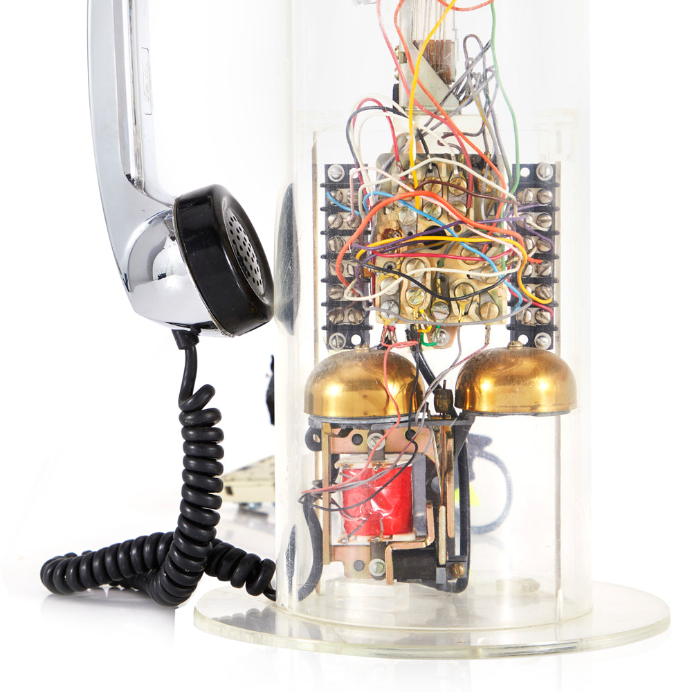 Clear Plastic Phone - Cylinder