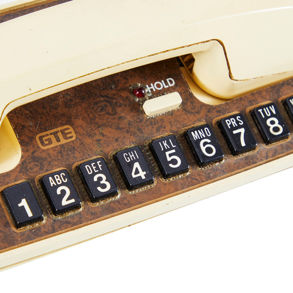 Beige Horizontal Telephone - Touchtone