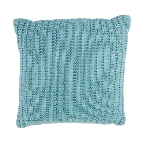 Aquamarine Knit Pillow