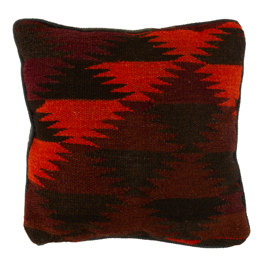 Red + Burgundy Aztec Pattern Pillow
