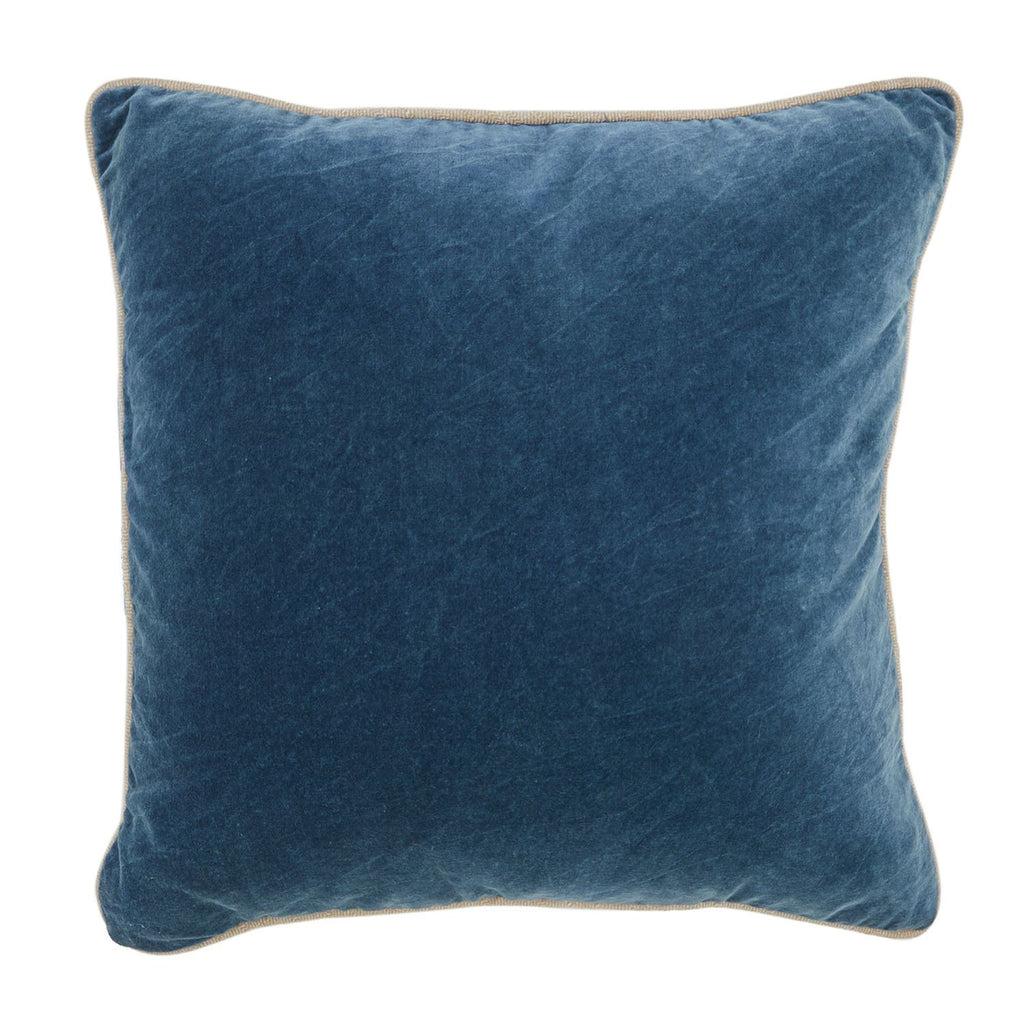 Teal Blue Velvet Pillow