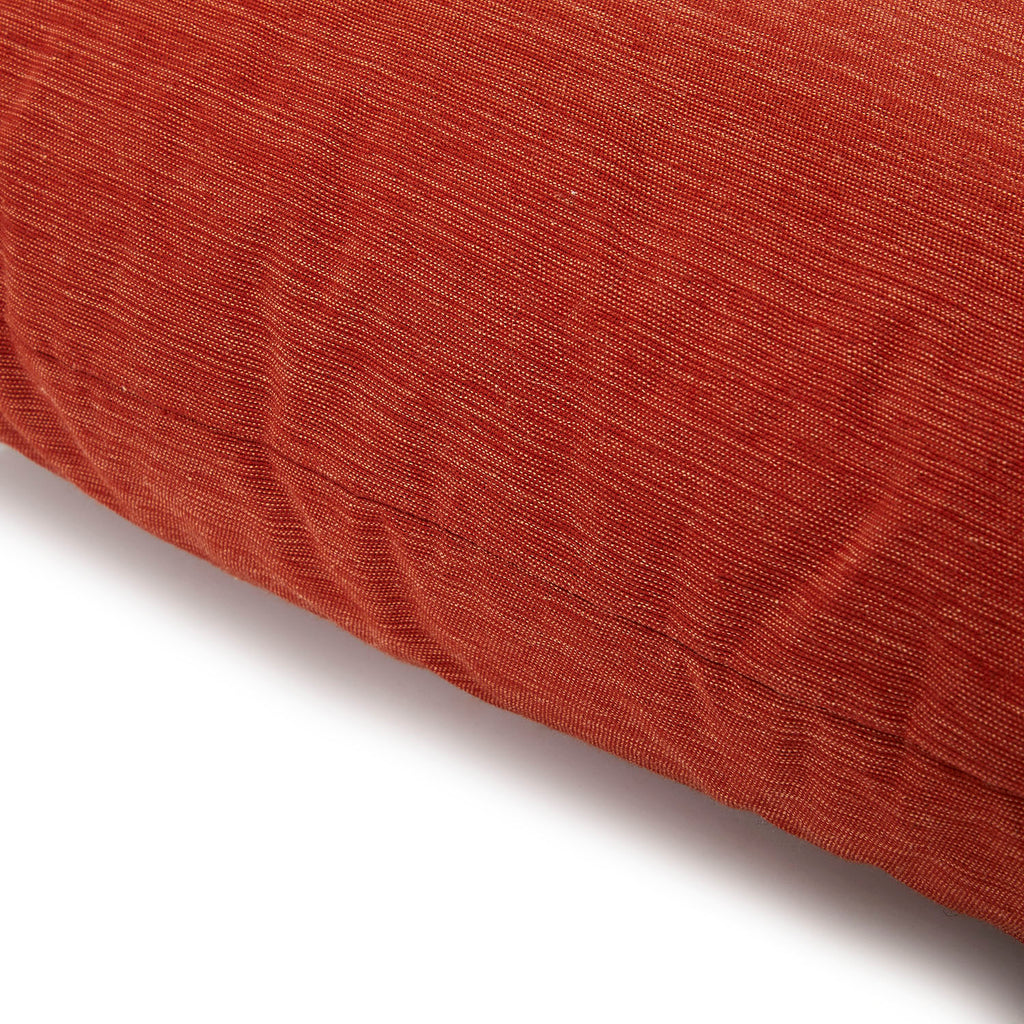 Frayed Weave Red Pillow