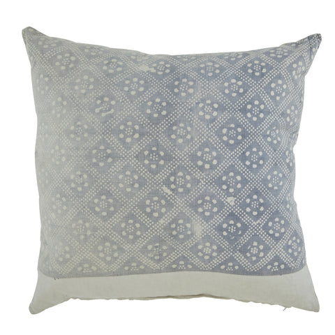 Faded Blue Patterned Pillow