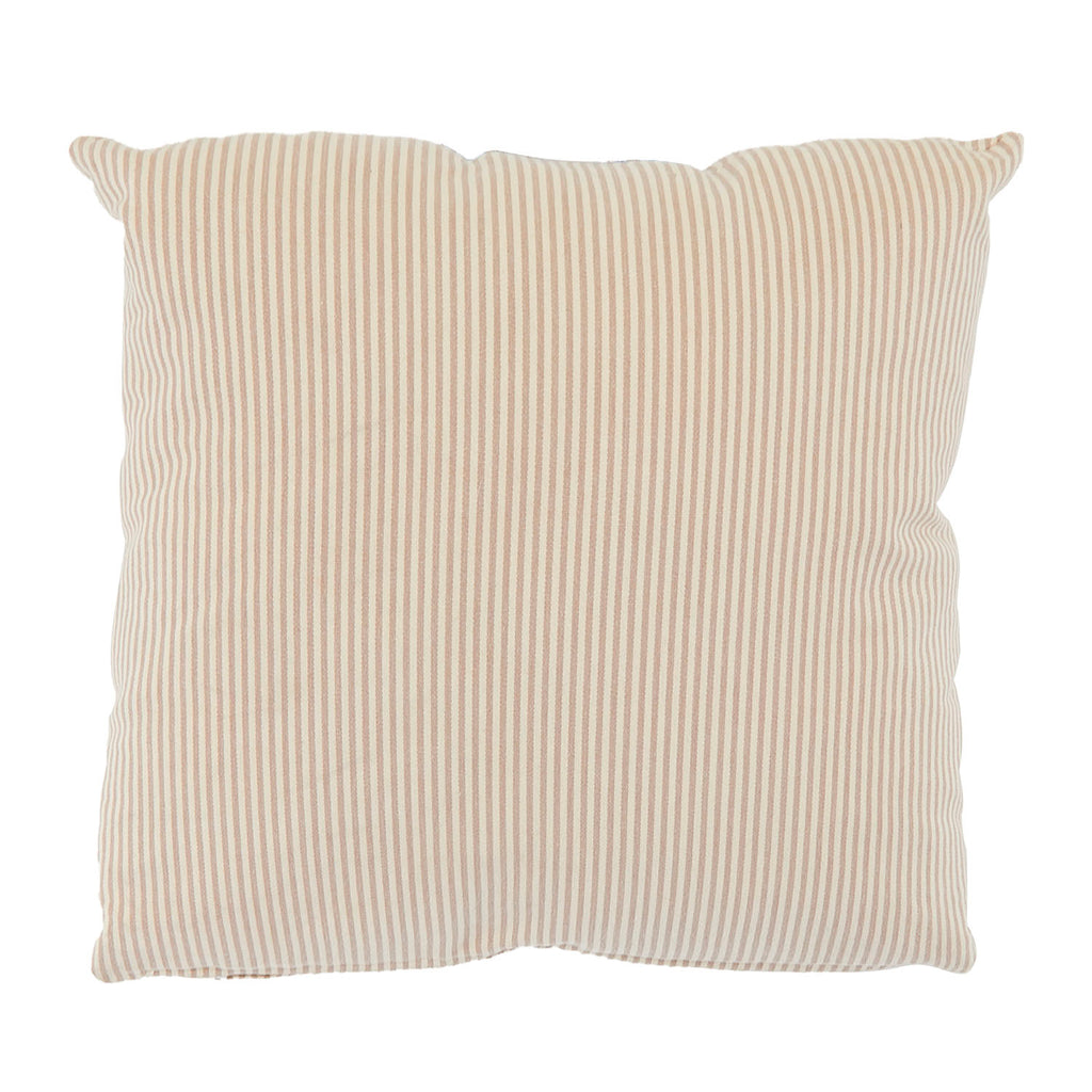 Beige Ticking Stripe Pillow