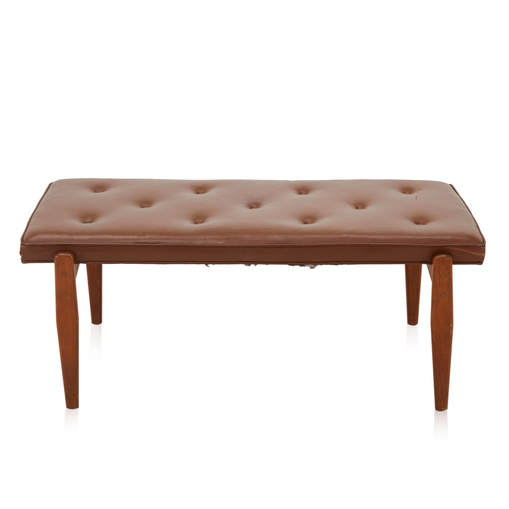 Brown Tufted Bench