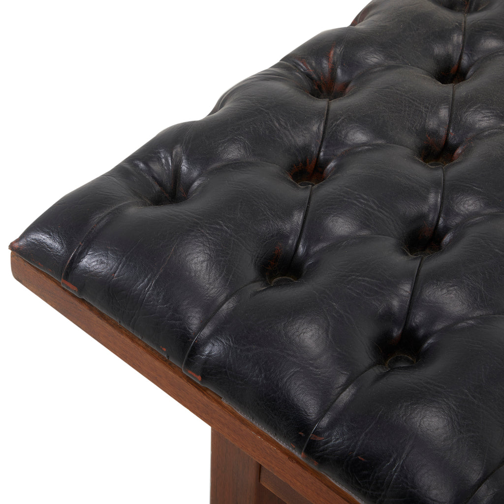 Black Button Bench