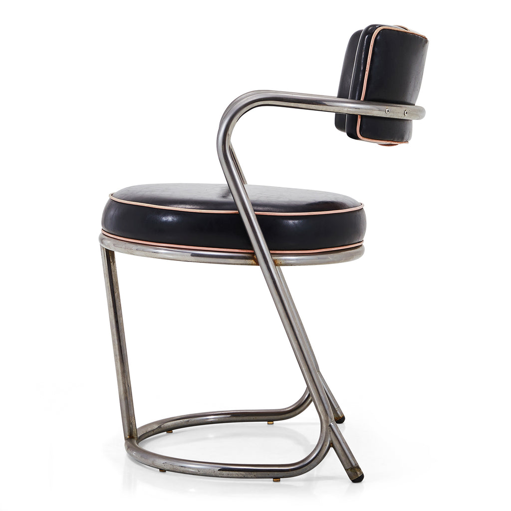 Deco Pink and Black Dining Chair