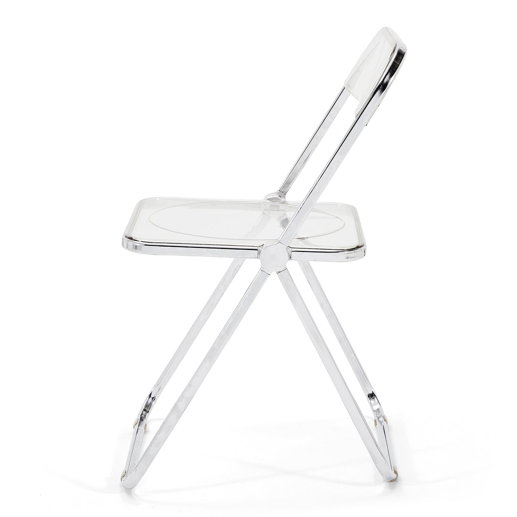Lucite and Chrome Plia Folding Chair