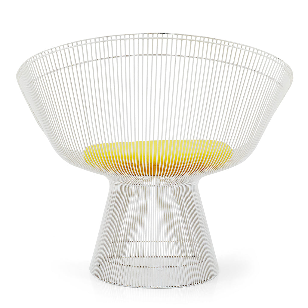 Platner Arm Chair - White Metal
