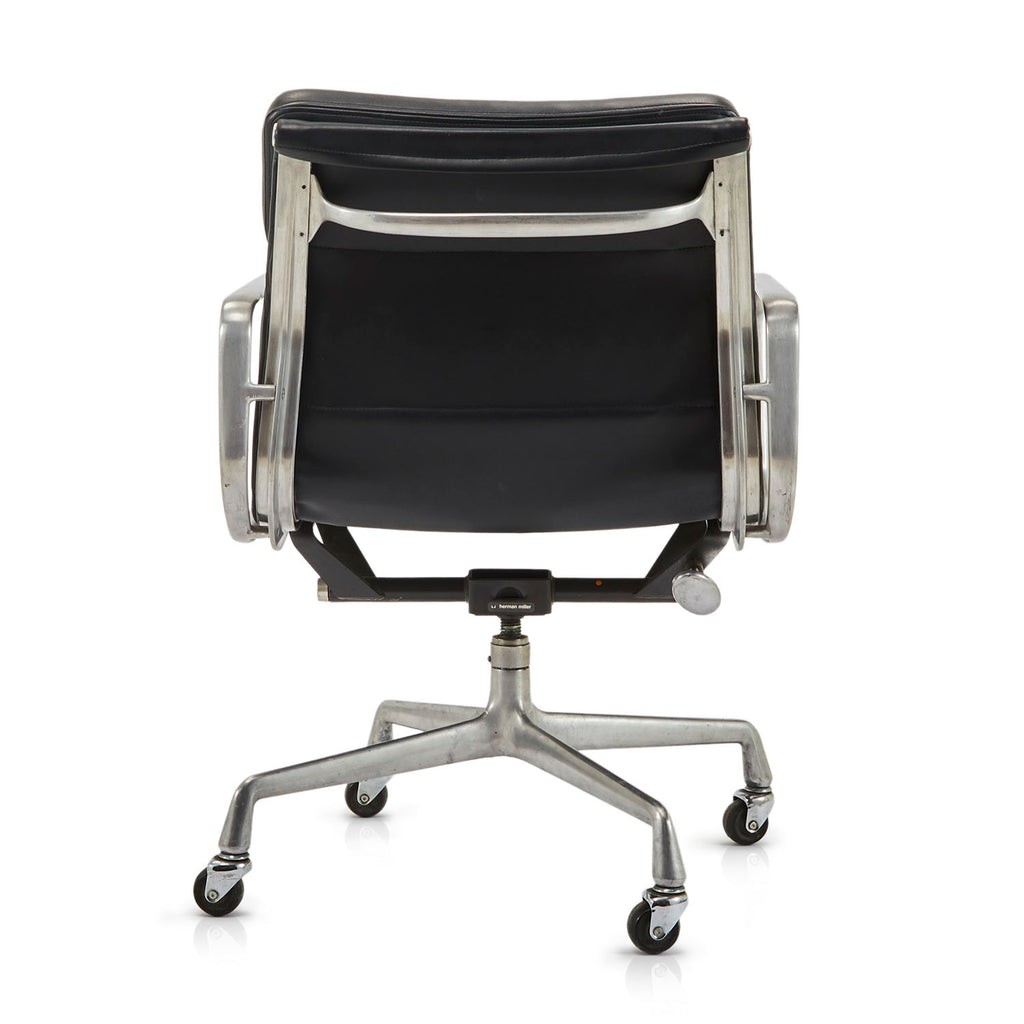 2 Pad Leather Office Chair - Black
