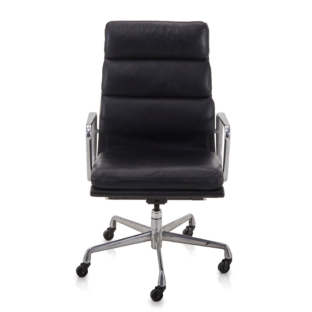 3 Pad Rolling Office Chair - Black