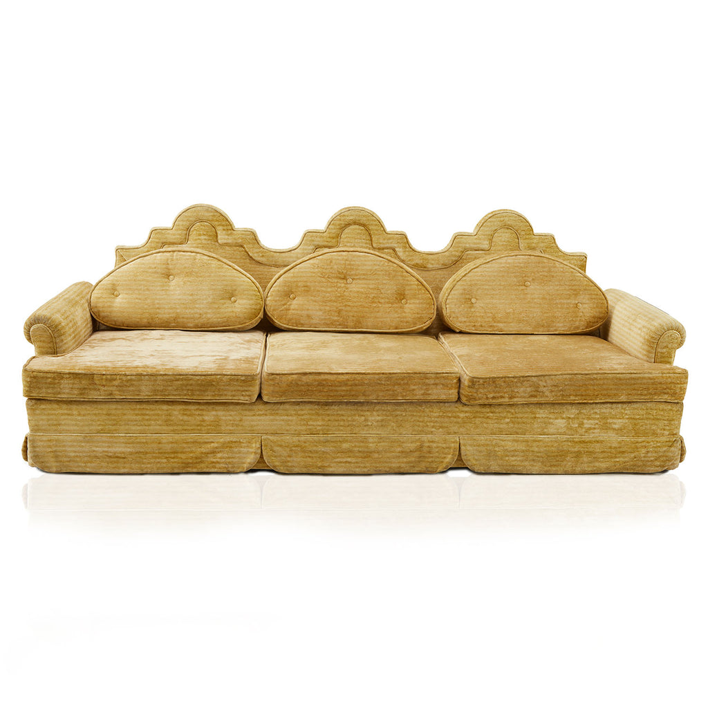 Vintage Royal Mustard Sofa