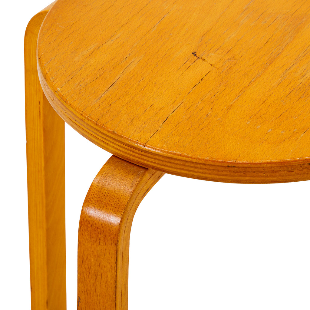 Four Leg Bent Wood Aalto Style Stool