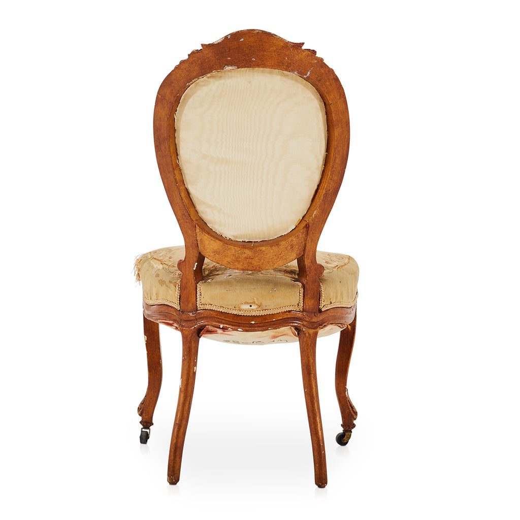 Antique French Upholstered Wood Dining Chair