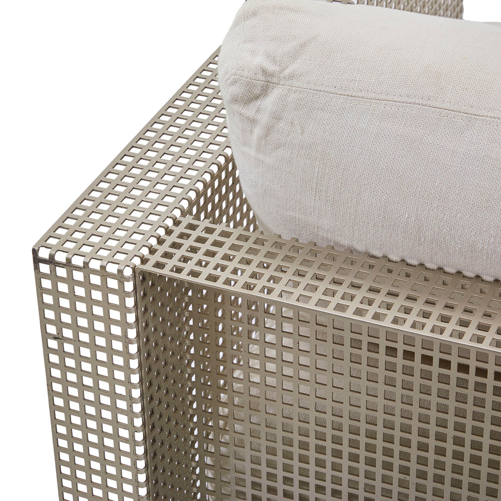 Baltus Butaca Detroit Perforated Steel Chair with Linen Cushions