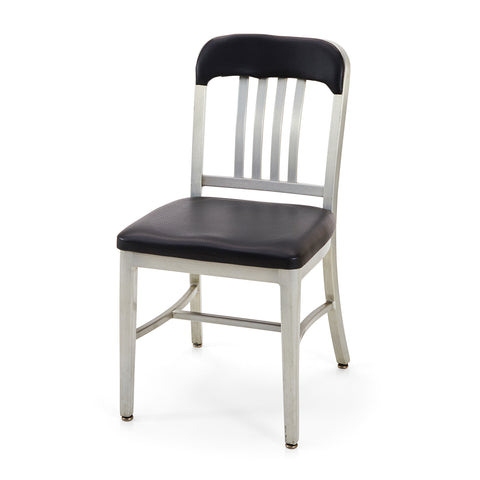 Navy Chair with Aluminum Back
