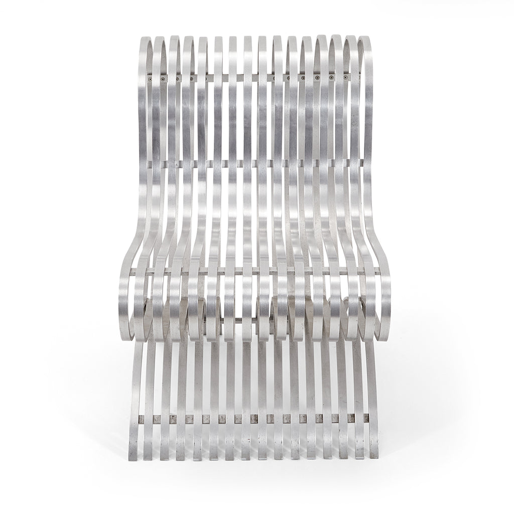 Chrome Slatted Ribbon Chair