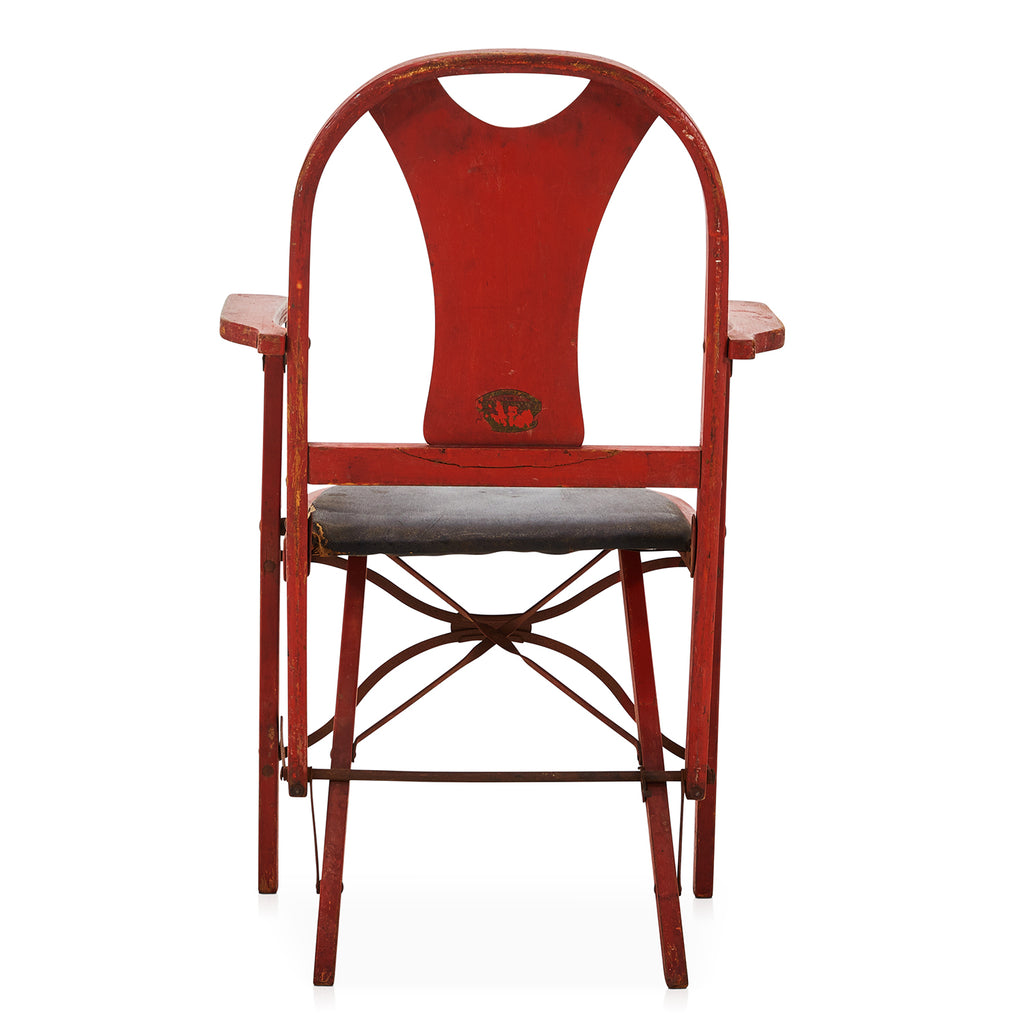 Folding Red Wood Chair