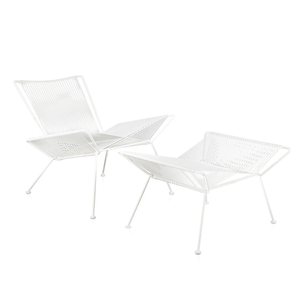 Cord X-Chair - White with White Frame